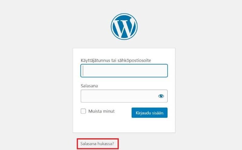 Paasaus WordPress-Salasanan-vaihto WordPress-salasanan vaihto